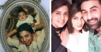 "Neetu Kapoor reacts ""Mera Chotasa"" resharing a picture of Ranbir Kapoor from Riddhima Kapoor's post"