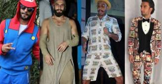 """50 Shades of Ranveer Singh's weirdest outfits from """"Ghagra"""" to """"colorful attires"""""""