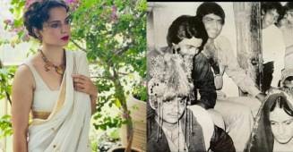 "Kangana Ranaut shares a ""throwback picture"" on her parents anniversary, claims they had a ""raging affair"""