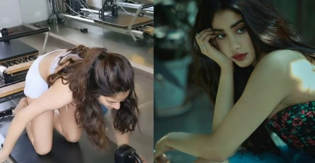 """""""I can't do this anymore"""" Janhvi Kapoor's workout struggle caught fans attention"""