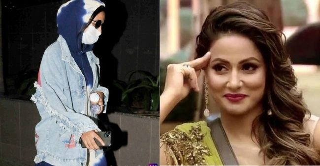 """Leave me alone"" Hina Khan request paparazzies, arriving at the airport for father's last rites"