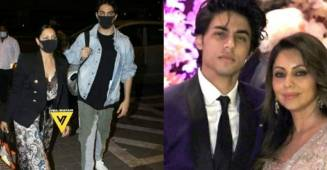 Netizens trolls Gauri and Aryan Khan leaving for their New York vacation
