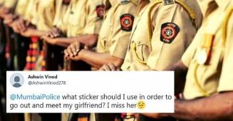 A Mumbai resident asks for permission to meet his girlfriend, Police responds with perfect message