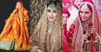 Bollywood brides with changing trends from 'Sharmila Tagore' to 'Deepveer'