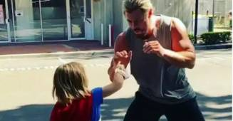 Chris Hemsworth Aka OG Spars With 'Little Thor' In A Delightful Video, Fans In Awe