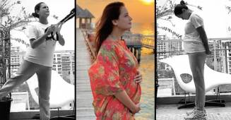 Preggers Dia Mirza Posts Video Clips As She Performs Yoga & Light Workouts