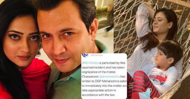 After a CCTV video of Shweta Tiwari-Abhinav Kohli circulates, the National Commission for Women steps in for further inquiry
