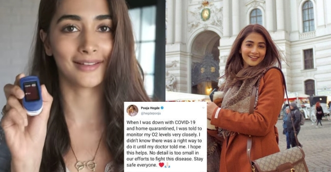 Pooja Hegde shares an oximeter tutorial on her social media, asking people to understand the system