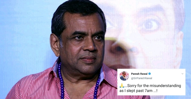 Paresh Rawal gives a humorous reply to rumours of his demise