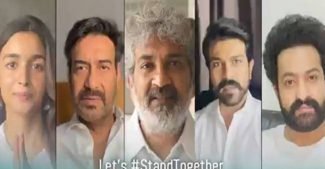 'RRR' cast encourages citizens to get vaccinated and stay safe, through a special video message
