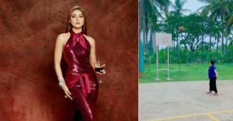 "Urvashi Rautela shares video of her ""Super Mom"" playing Basketball like a pro"