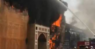 Fire breaks out at ND studios Karjat, Jodha Akbar set caught in flames