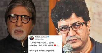 "Amitabh Bachchan rectifies his mistake by crediting Prasoon Joshi for the poem ""Ruke na tu"""