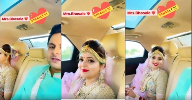 Sanket Bhosale shares the arrival of wife Sugandha Mishra as Mrs. Bhosale; Watch the video