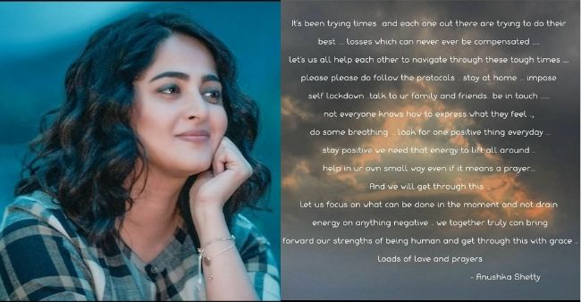 """Anushka Shetty says """"look for positivity and help each other"""" in these tough times"""