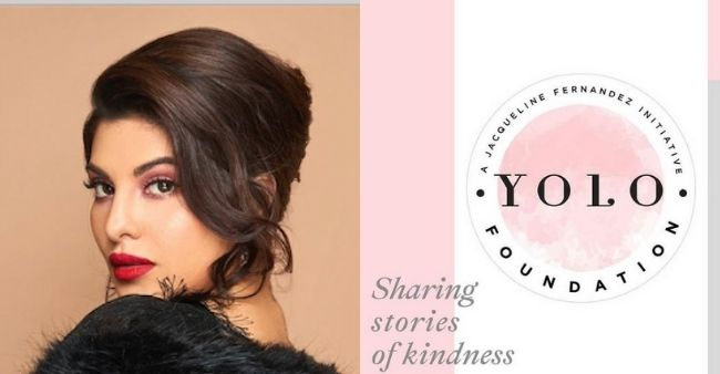 "Jacqueline Fernandez launches YOLO Foundation to ""Create and Share Stories of Kindness"""