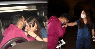 Rahul Vaidya kisses Disha Parmar goodbye while leaving for Khatron Ke Khiladi season 11 shoot