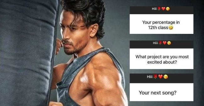 Tiger Shroff's witty replies to fans who asks him about his jawline and education