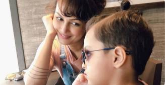 Nisha Rawal shares a quality fun hour with son Kavish, while legal fight with Karan Mehra is ongoing