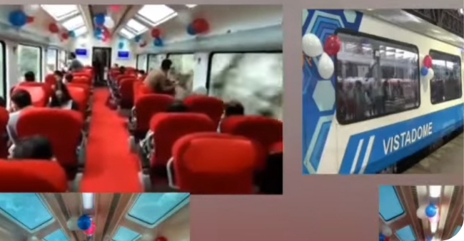 Maharashtra unveils Vistadome coach where passengers can enjoy the scenic beauty of the Western Ghats