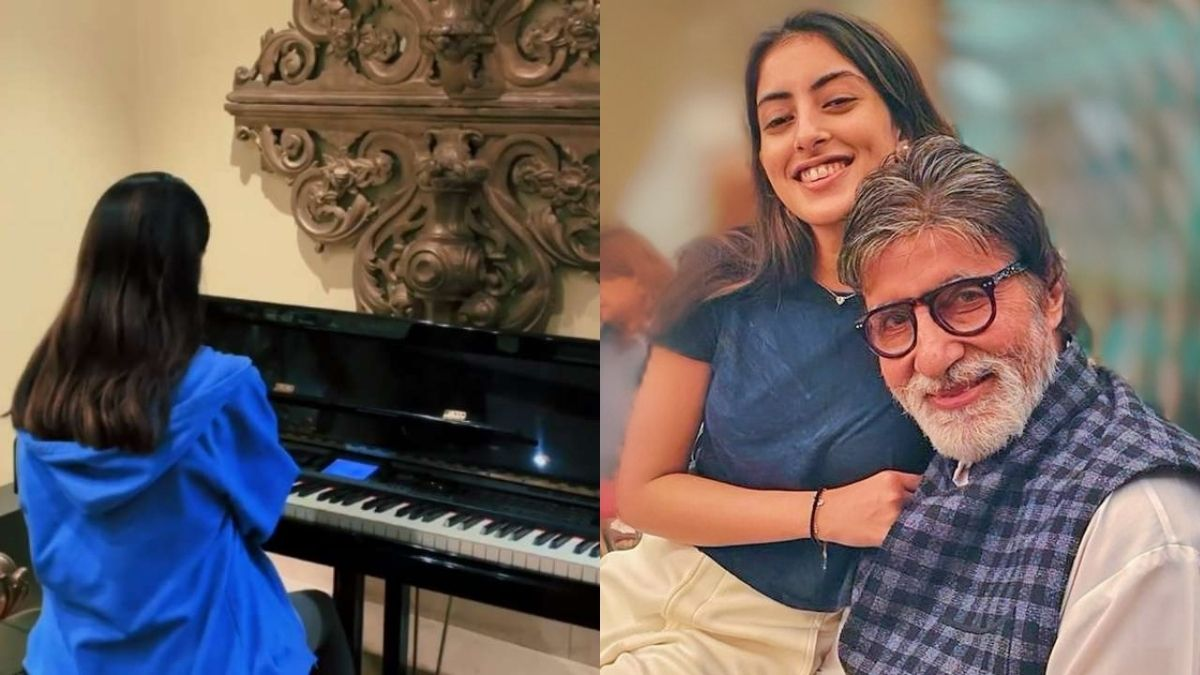Navya Naveli Nanda treat fans with a soothing piano tune, asks fans to guess the song for 10 points
