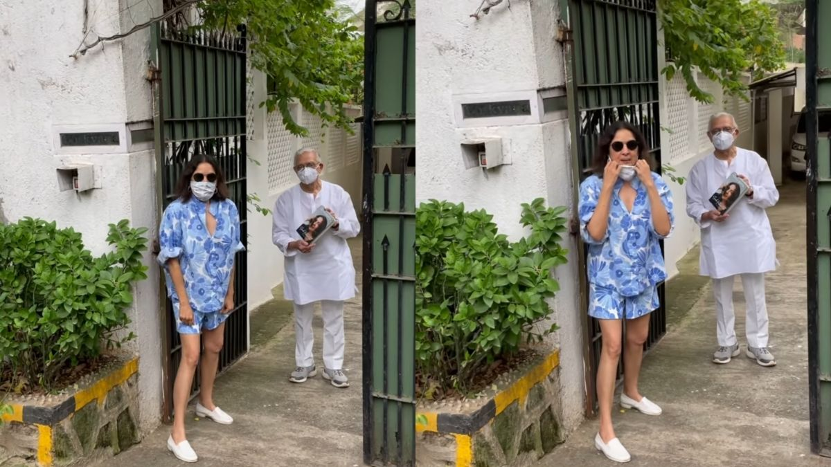 """""""It's plain rubbish,"""" Neena Gupta after being trolled for wearing shorts while visiting Gulzar"""