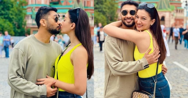 Gauhar Khan and Zaid Darbar shares honeymoon pictures from Moscow