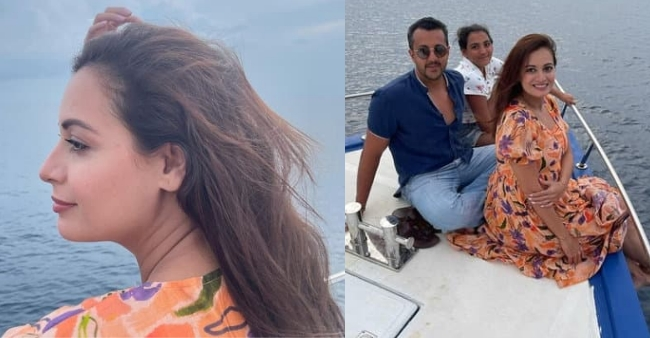Mom-to-be Dia Mirza shares unseen pictures from her honeymoon trip with husband Vaibhav Rekhi and step daughter Samaira