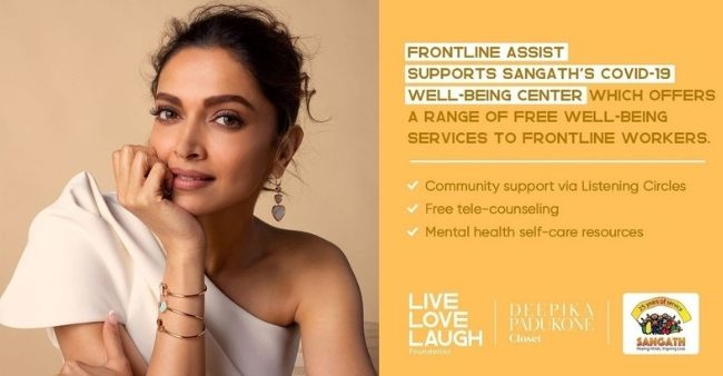 Deepika Padukone launches 'Frontline Assist' to provide mental aid to frontline workers