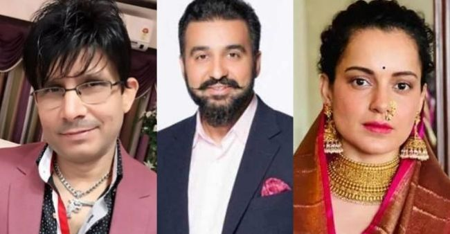 """KRK took a dig at Kangana Ranaut's reaction on Raj Kundra arrest, says """"What she is doing in this gutter?"""""""