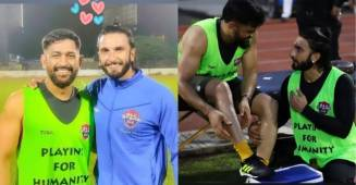 Ranveer Singh sits at the feet of MS Dhoni reliving his fan boy moments