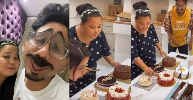 Haarsh Limbachiyaa shocks wife Bharti Singh on her Birthday with a weird gift, celebs shower wishes