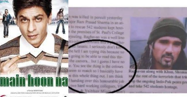 Netizens discovered hilarious rant by crew member from Main Hoon Na's old newspaper cutting piece