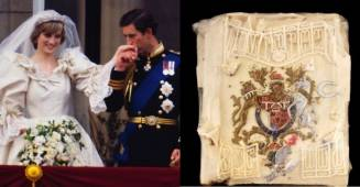 A slice of Princess Diana and Prince Charles's Wedding cake goes out on auction, was preserved for 40 years