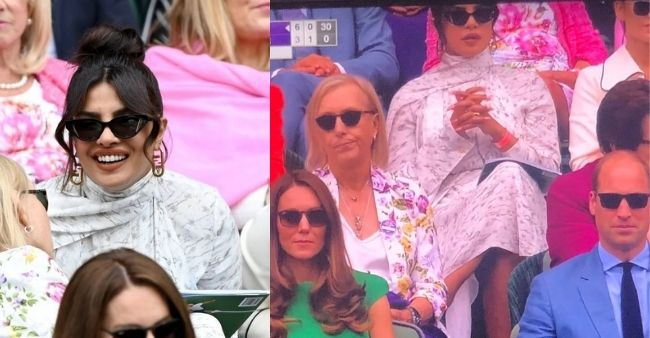 Unseen pictures of Priyanka Chopra Jonas attending Wimbledon finals with Prince William and Kate Middleton