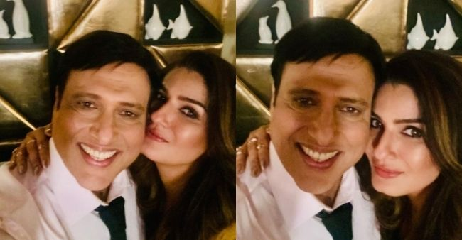 Raveena Tandon gives a hint on teaming up with Govinda in a secret project, shares photo on social media