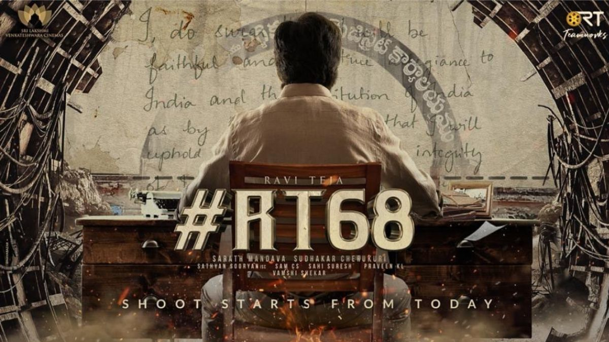 #RT68 trends on Twitter after Ravi Teja's pre-look of the movie surfaces the internet, shooting to start today