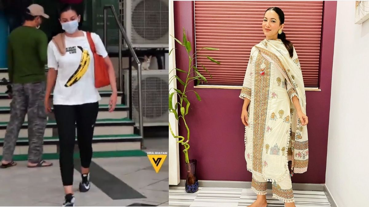 """Gauahar Khan hits back with """"aap konse times mein chal rhe ho"""" when paparazzi asked her to un-mask for pictures"""