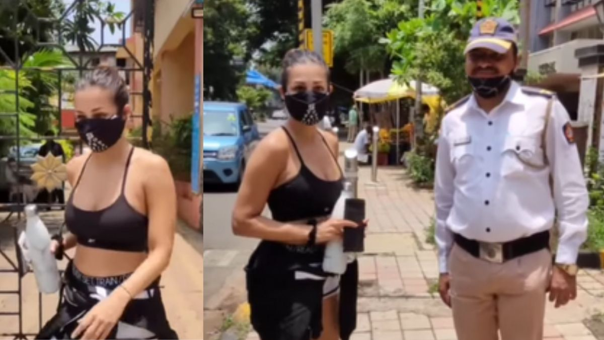 Malaika Arora's startled reaction to a traffic cop asking her for a selfie, actress obliges the request