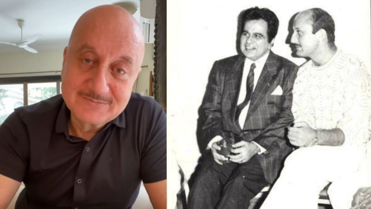 Anupam Kher shares a touching video paying tributes to Dilip Kumar