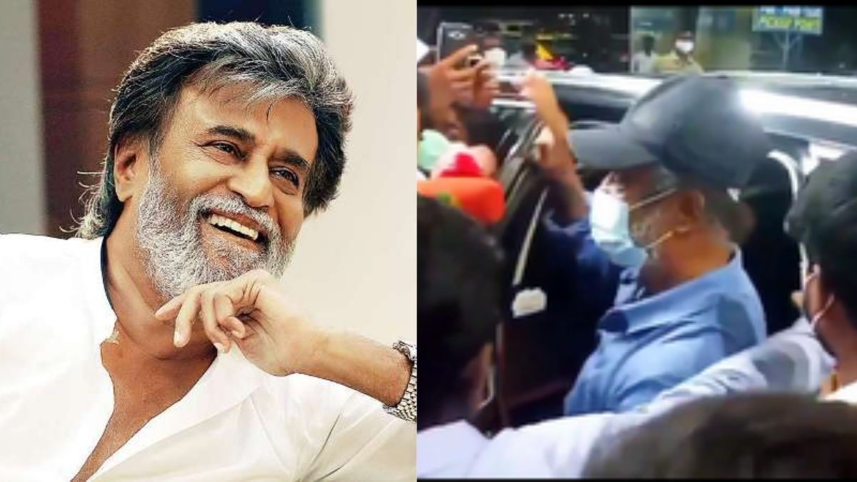 Superstar Rajanikanth returns from US after his health check-up, fans chants 'Thalaivar' at the Chennai Airport