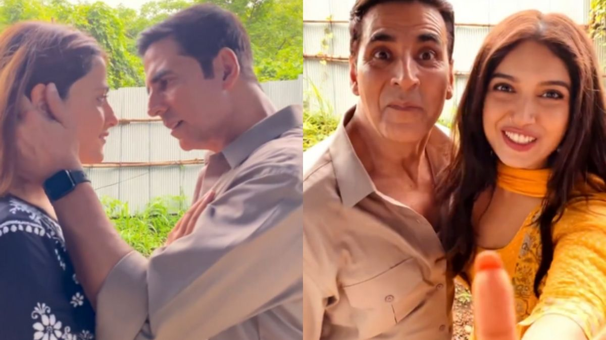 Akshay Kumar shares a funny video with Nupur Sanon and Bhumi Pednekar, starts a fun entry for #Filhaal2Reels contest for the fans