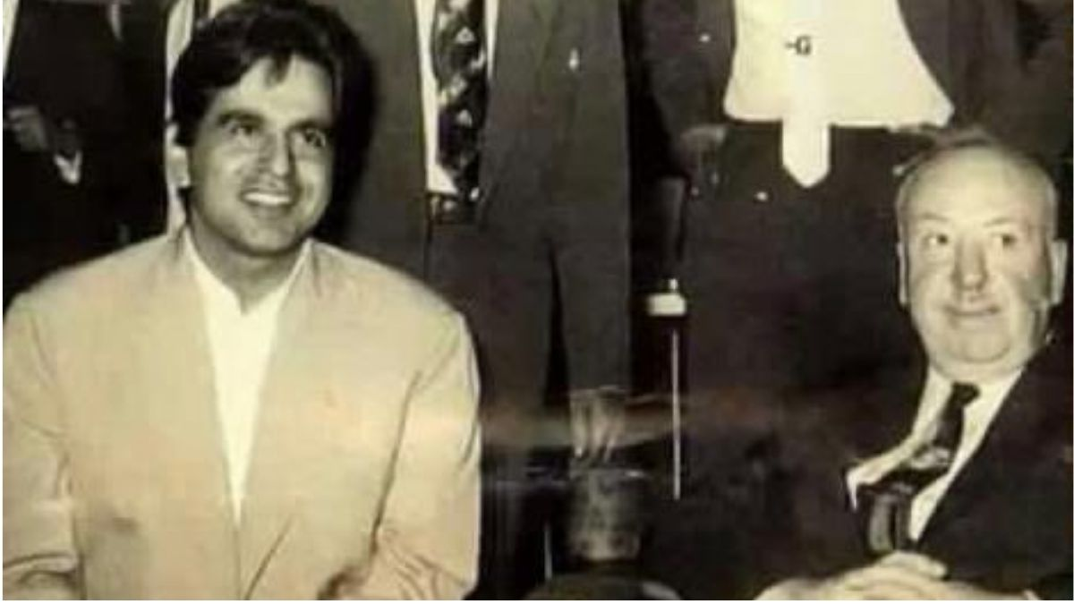Filmmaker Sudhir Mishra shares a rare photo of Dilip Kumar and Alfred Hitchcock