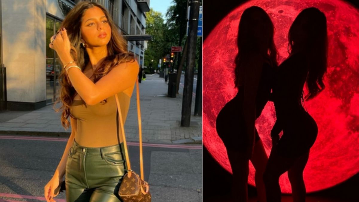 Suhana Khan nails the silhouette challenge in the party, shares exotic pictures