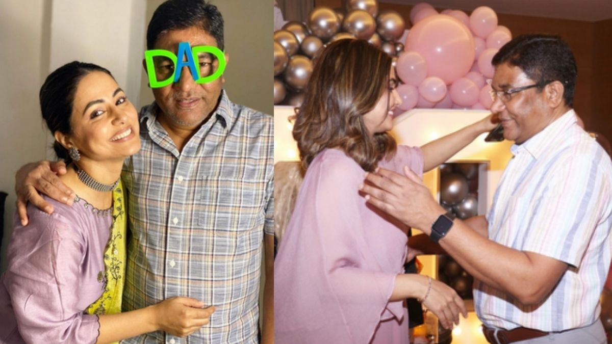 Actress Hina Khan shares a heartfelt note for her father, as it marks 3 months of his demise
