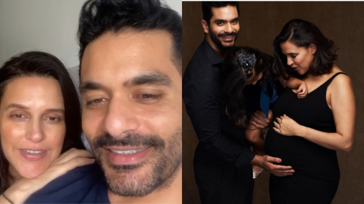 Angad Bedi and Neha Dhupia asks fans for suggestions on names for their second child, thanks them for heartfelt wishes
