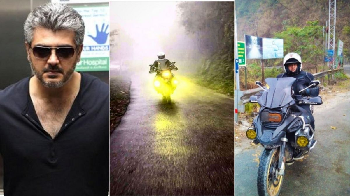 Unseen pictures of Superstar Thala Ajith riding a bike to explore North India goes viral