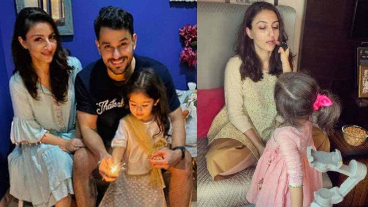 Soha Ali Khan shares a new video with her daughter Inaaya by introducing her as the new 'make up assistant'