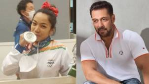 Indian weightlifter Mirabai Chanu's favorite actor Salman Khan wishes her for the achievement at Tokyo Olympics