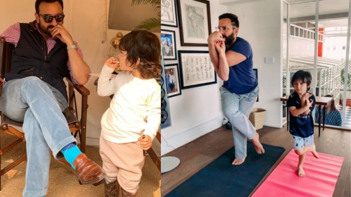 """Fans suggests Saif Ali khan to act in the remake of Hollywood film 'Baby's Day Out' with his son Taimur, actor responds saying """"it would be so tiring"""""""